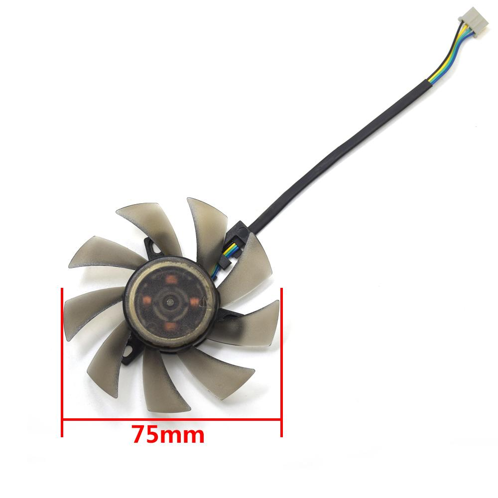 New 75MM FD7010H12S 4Pin Fan cooler Substituir Para ASUS Sapphire MSI R6790 gêmeo Frozr II HD 7870 placa gráfica Cooling Fan DIY