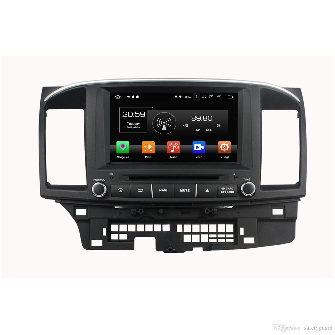 """4GB+64GB IPS Octa Core 8"""" Android 8.0 Car DVD Player for Mitsubishi Lancer 2006-2015 DRS Radio GPS 4G WIFI Bluetooth USB Mirror-link"""