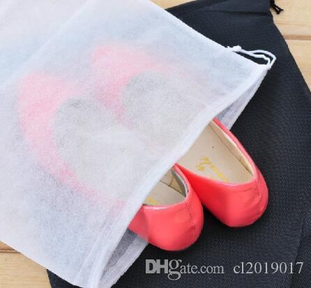 Vliesstoff-Aufbewahrungsbeutel Bequemer quadratischer Reise-Kordelzug tragbar für Schuh-Behälter-Schwarz-Weiß