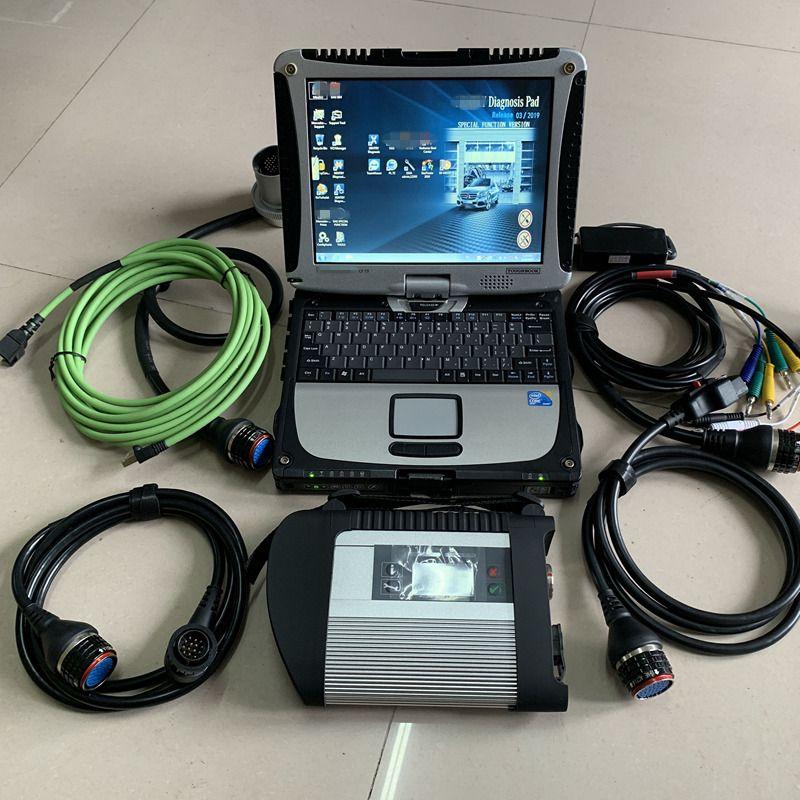 2021 МБ звезды C4 Звездный диагностический диагностический с ноутбуком Toughbook CF-19 MB SD Connect Compact 4 S-S-D V2021.03 Готов к работе для M-ercedes