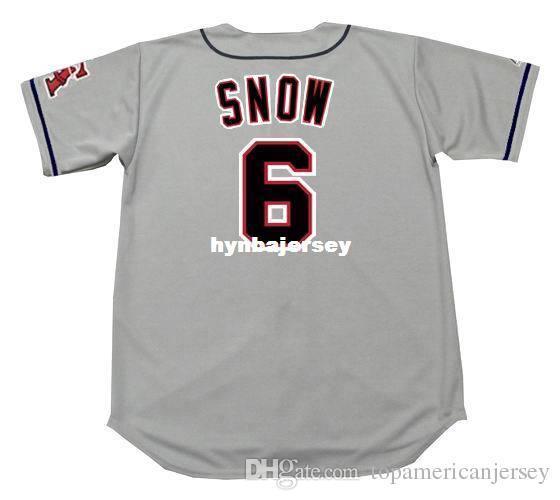 Günstige Custom J.T. SNOW California genäht 1996 majestätische Vintage Away Baseball Jersey Retro Herren Trikots ausgeführt