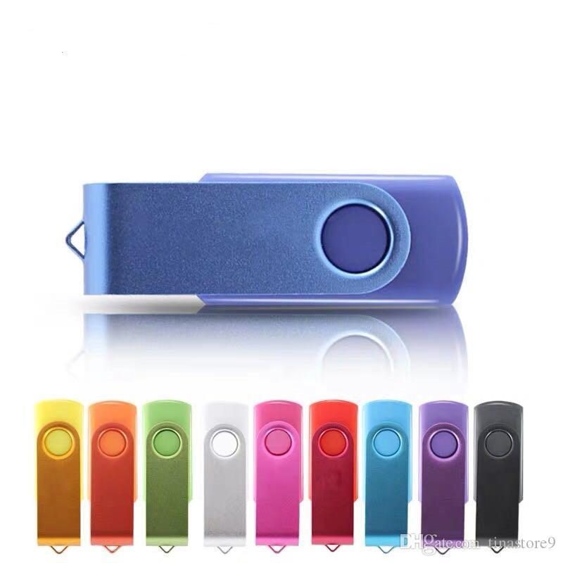 cle usb stick USB 2.0 Flash Drive 64GB bunte Feder-Antrieb 32GB drehen Key USB-Stick 16GB memoria Stick 8GB 4GB individuelles Logo tina