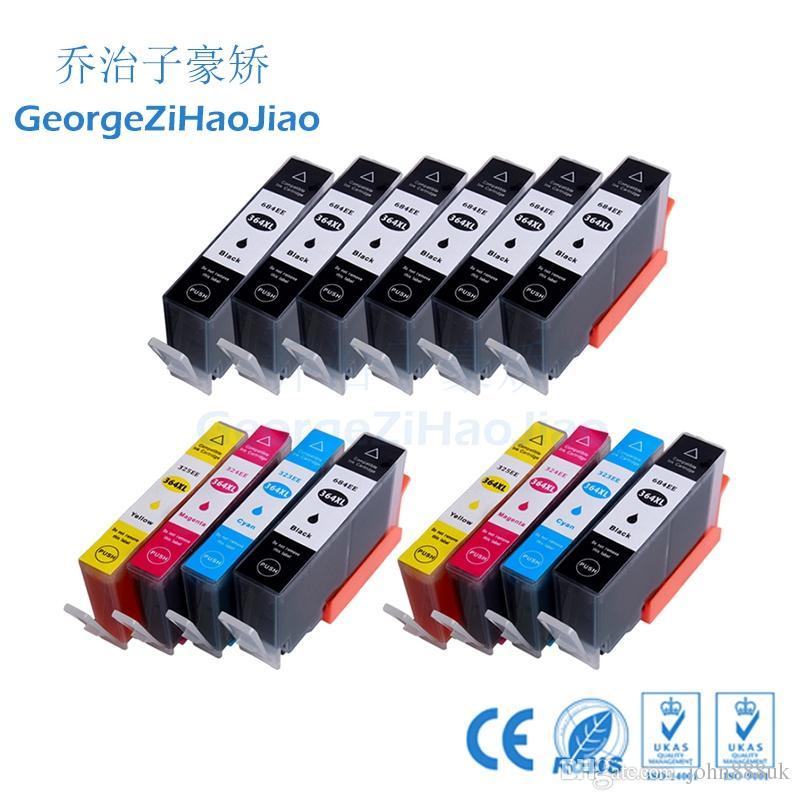 ZH 14 Mürekkep Kartuşları 364XL 8BK C, HP364 Photosmart B210 C53244 C5380 C63244 C6380 D5460 için Uyumlu Photosmart e-Station C510a