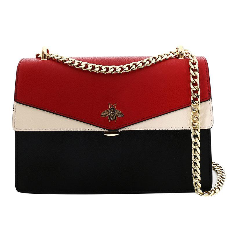designer de luxo da mais recente bolsa de couro saco 2020 nova moda das mulheres versátil versão da moda o saco cadeia de um ombro das mulheres por