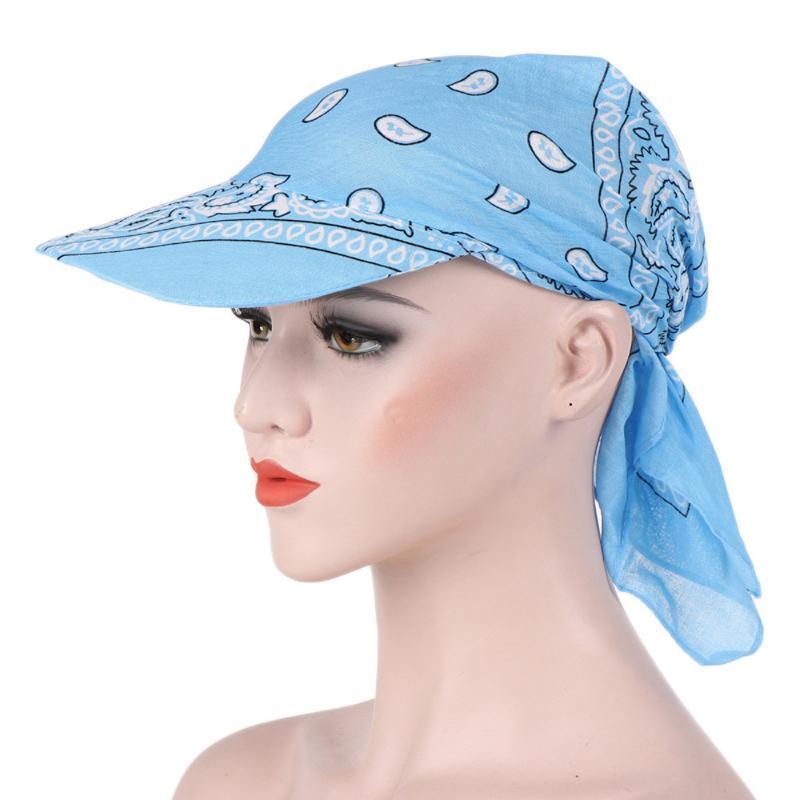 SAGACE Cap Women Flower Print Fashion Visor Hat Sunhat Printed Head Scarf Keep Warm Cap Topee Casual Cotton Comfortable Hat