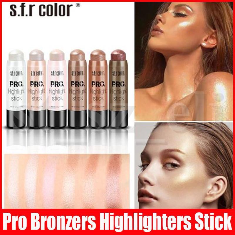 s.f.r Color Shimmer Pro Highlight Contour Stick Makeup Tool Beauty Face Powder Cream Natural Makeup Cream Bronzers Highlighters Pen Stick