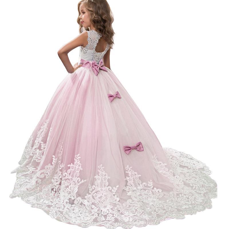 2020 Summer Girls Dress Bridesmaid Kids Dresses For Girls Children Long Princess Dress Vestido Party Wedding Dress 3 10 12 Years