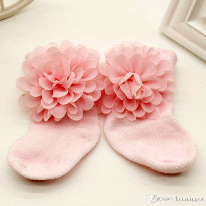 0-6 meses niños pequeños bebés algodón tobillo arco calcetines bebés niñas princesa Bowknots calcetines antideslizantes encaje zapatos florales