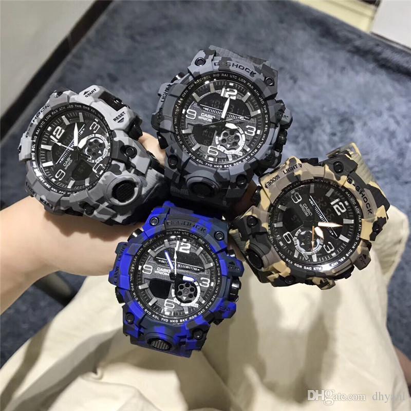 CSO Shock 110 LED Uhren Großhandel Sport Herren Luxus Wasserdichte Auto-Licht Chronograph Rubber Starp Goldene Uhren Weihnachtsgeschenk Hot