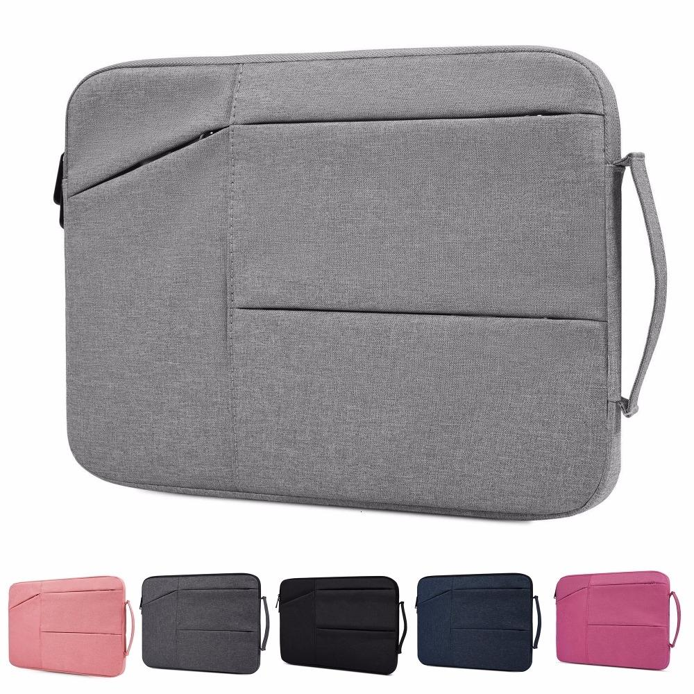 Nylon Laptop Bag Notebook Bag 13.3 15.6 Case For 2018 New Macbook Pro 13 15 Laptop Sleeve 11 12 13 14 15 inch Women Men Handbag SH190924