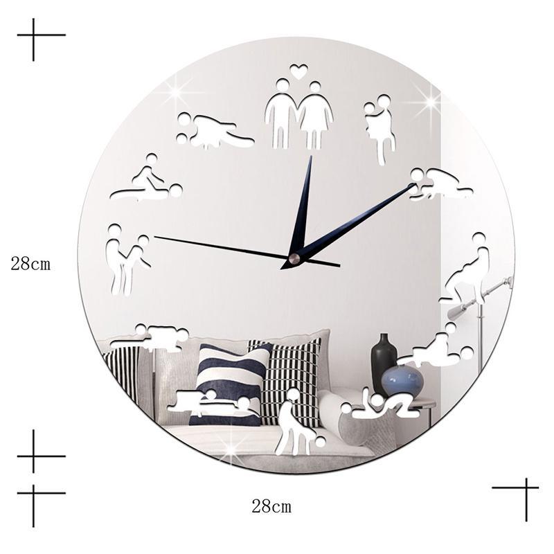النادي الليلي الجنس الصفقات نيون LED ساعة الحائط ديكور مضيئة ساعة الحائط الكبار Gfit J99Store