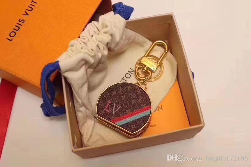 Designer Fashion Accessories CHAPEAU Bags & Keys Car Key Accessories Box Shaped Small Mirror Calfskin Original Packaging