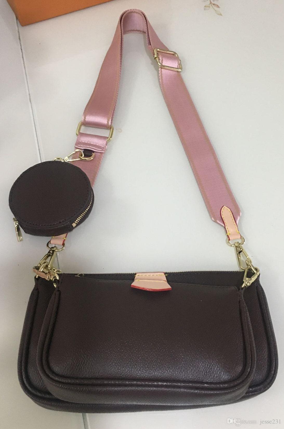 Trois sacs en cuir 3 pièces Sacs de mode Femmes Purse Sac Sac à main Véritable Set Article Tote Sale Sacs Sacs Coin Coin Cross Body Sacs EHCTD