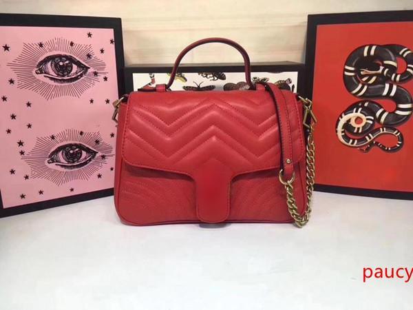 Классический стиль сумки Мода женщин Конструктор Сплошной цвет сумки леди плечо 98110 размер 26,5 * 19,5 * 11