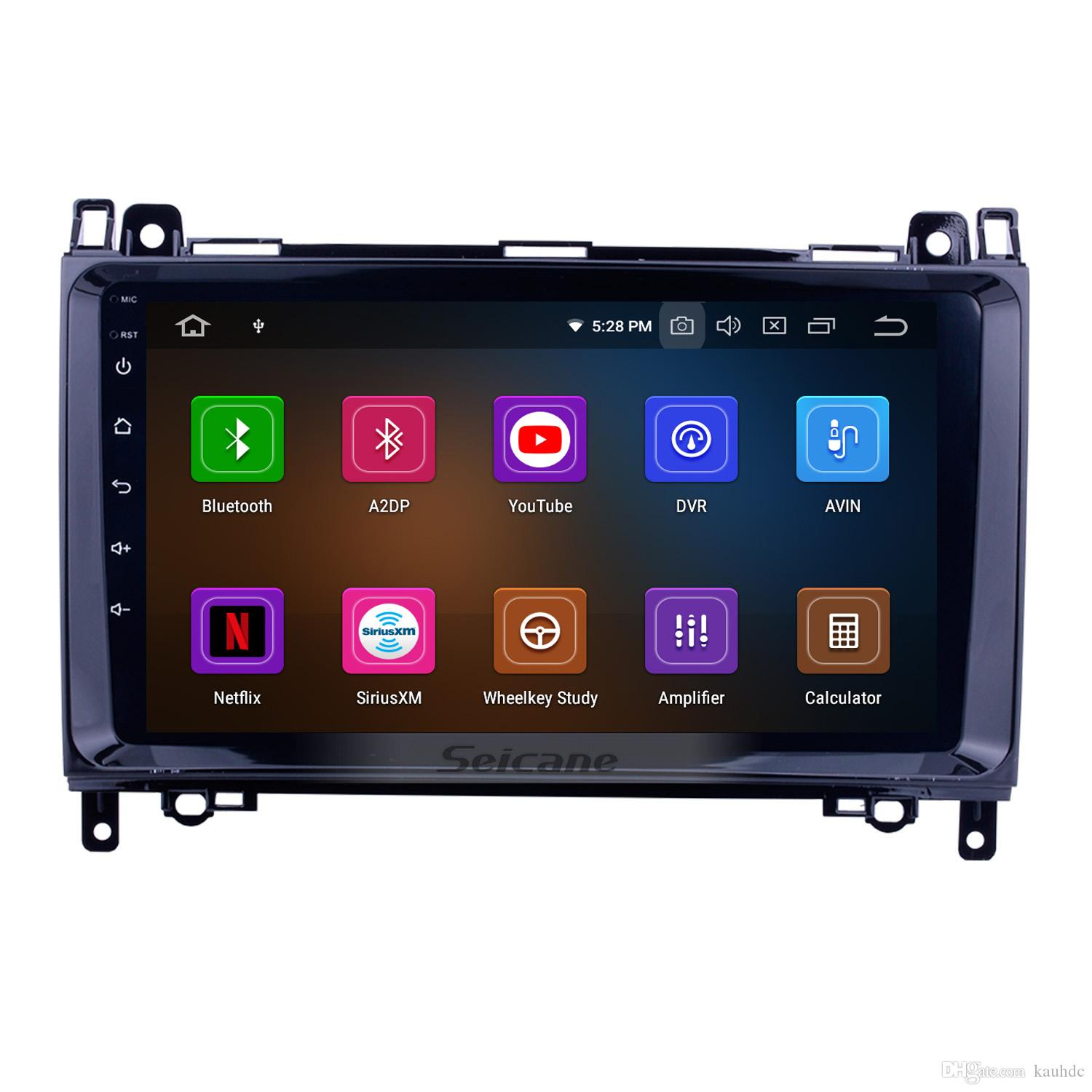 9 inch Android 9.0 Touchscreen Car Radio for 2004-2012 Mercedes Benz A W169 A150 A160 A170 A180 A200 with Bluetooth GPS Navigation WIFI