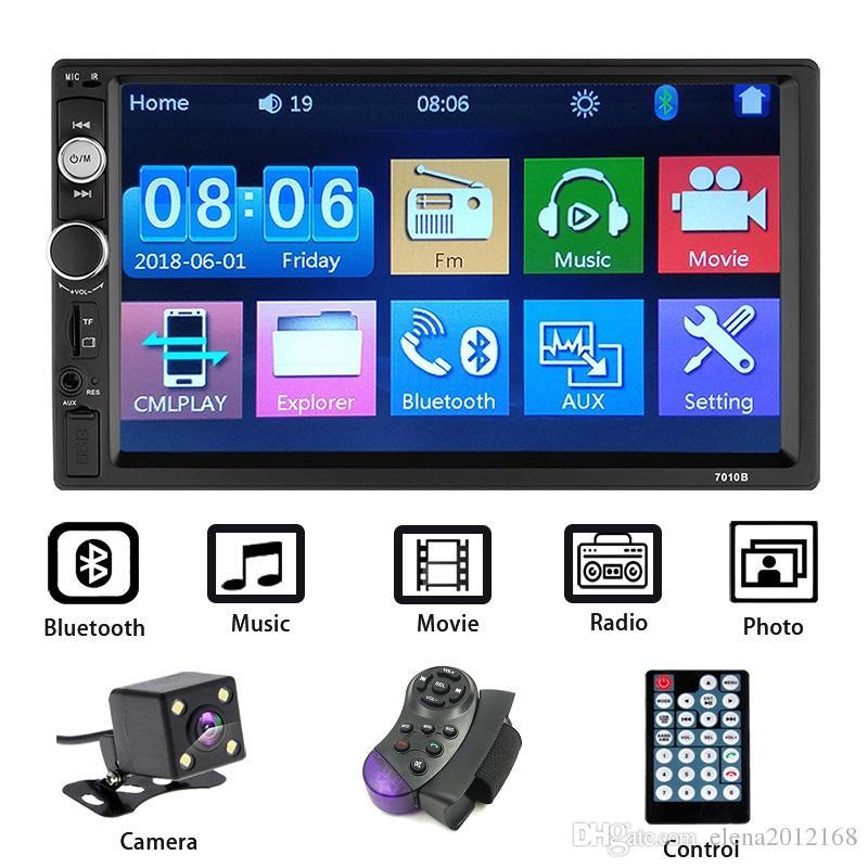 "2 din Car Multimedia Player Audio Stereo radio 7"" HD MP5 Touch Screen Digital Display Bluetooth USB FM Autoradio"