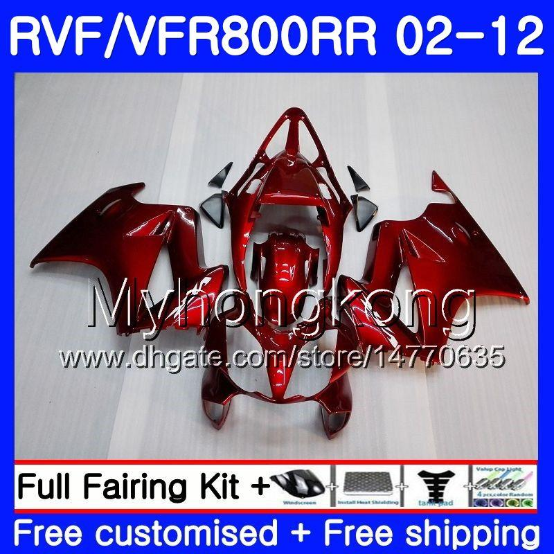 Körper Für HONDA Interceptor VFR800RR 02 03 04 05 06 07 258HM.0 VFR 800R 800RR VFR800 RR 2002 2003 2004 2005 2006 2007 Verkleidung ALL Factory red