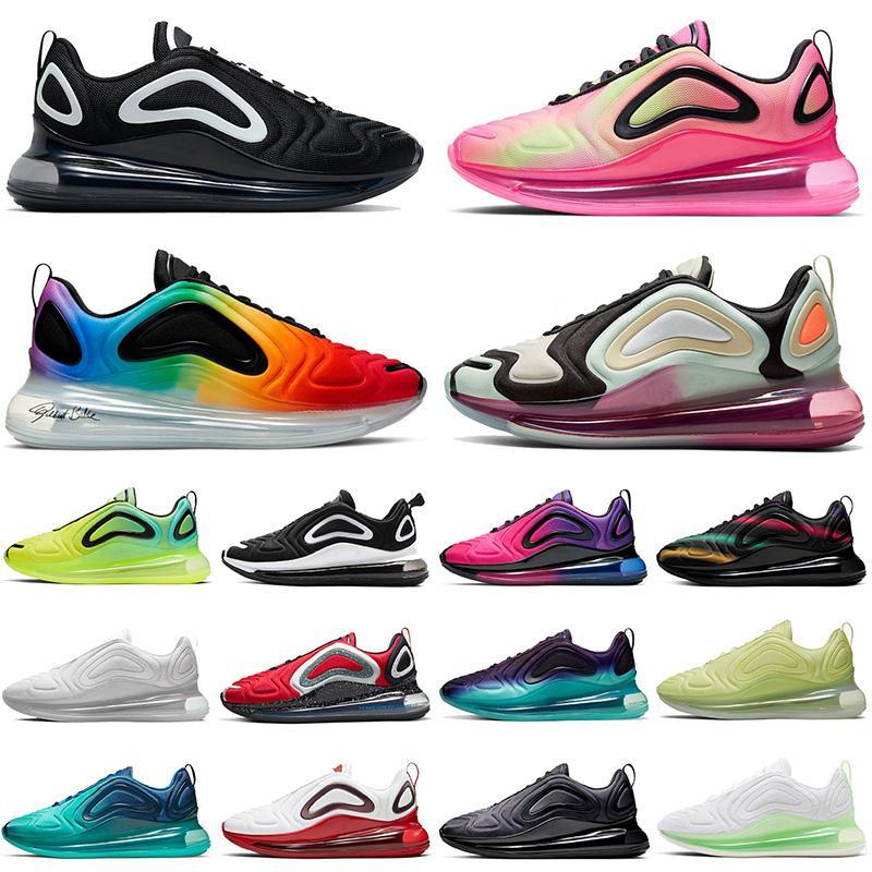 Nike Air Max 720 airmax 2020 Üst Moda Yeni Pembe Blast Toplam Tutulma Stok X Minder Koşu Ayakkabıları beyaz Volt DOĞRU OLMAK Erkekler Kadınlar Tasarımcı Sneakers Eğitmenler 36-45