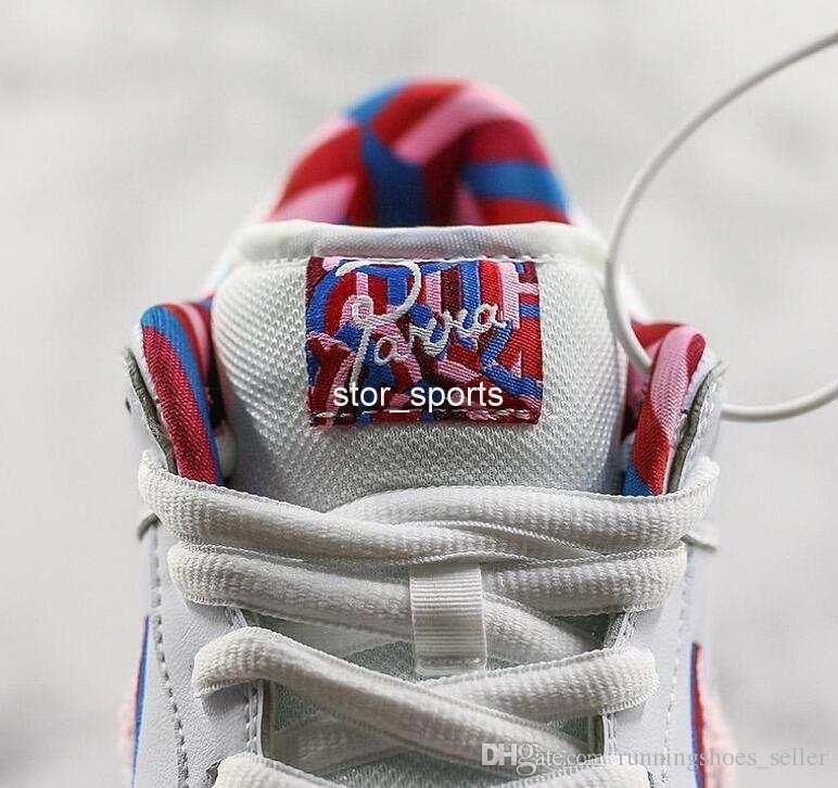 2019 Nuevo Parra X Nike SB Dunk Low Blazer GT Zapatillas De Running Para Hombre Para Mujer Zapatillas De Deporte Blancas, Rosadas Y De Diseño CN4504