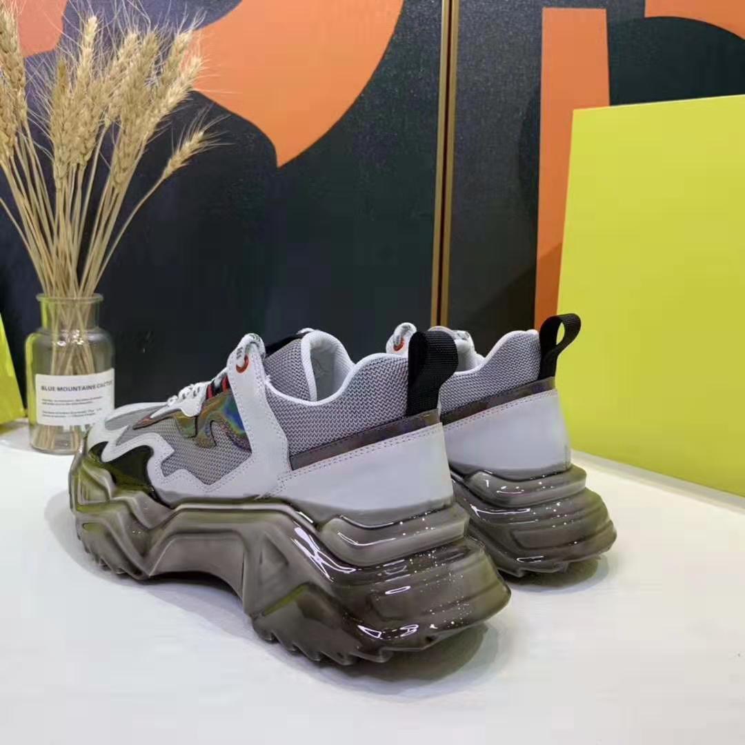 Горячая Продажа-Лучшая цепной реакция черной белого MeSH мужской беговой спортивной обувь дизайнер обувь на платформе повседневная обувь 38-43