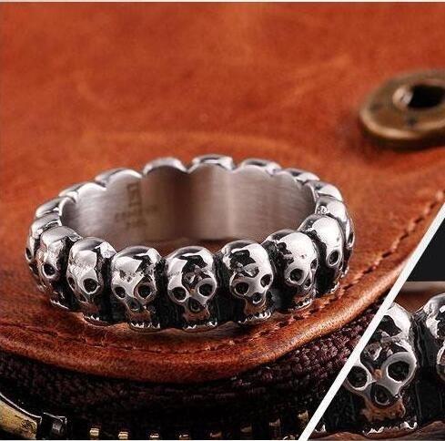 Ретро Панк кольца черепа сплава кольцо титана стали ювелирные изделия Производители Черепа палец кольцо верхнего качества Рождество Подарок Halloween