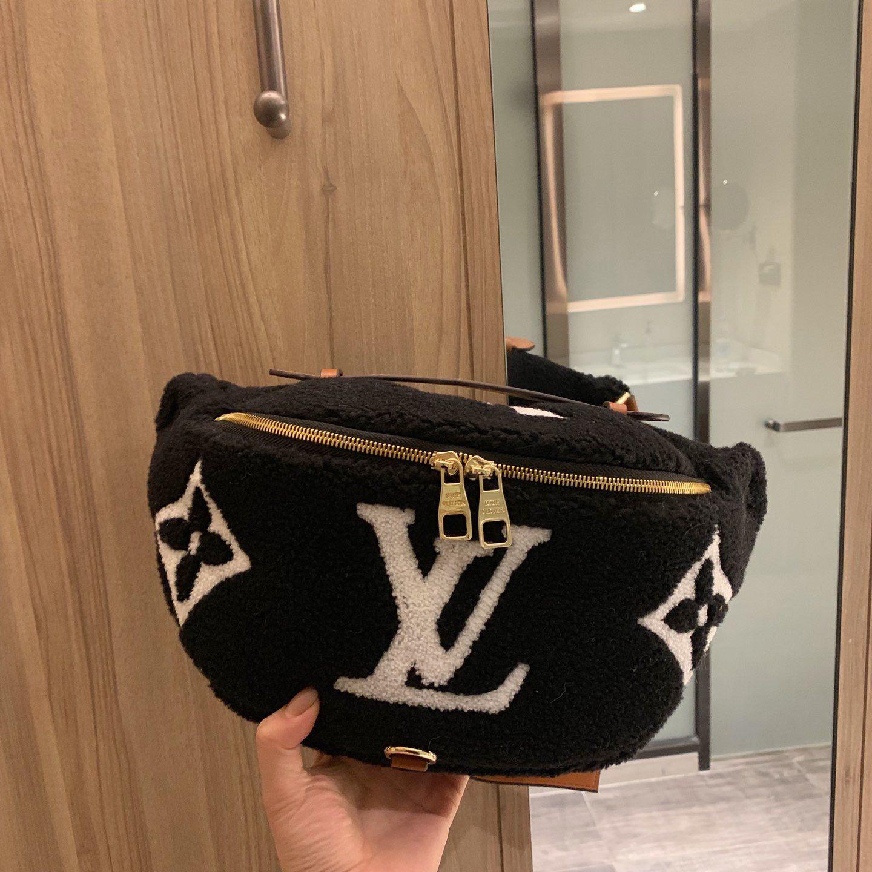 2020 de invierno de la cintura hombro del diseñador bolsos de las señoras de lujo Bolsas Mensaje de mujer de marca Bolsa de moda del paquete de Fanny del bolso de Crossbody B102729K