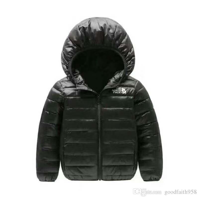 2018 marque nord Vêtements d'extérieur Enfants Garçon et Fille Hiver Manteau à capuchon chaud Enfants Doudoune en coton rembourré Veste Enfant 4-12 ans