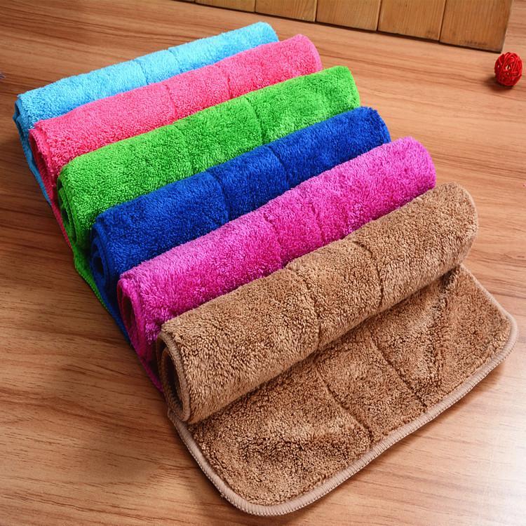 Polyester molleton Pad double face Décapage Absorbent Nettoyage Rag Cuisine épaissie rapide à sec vaisselle Serviettes laver les serviettes en BH2211 TQQ