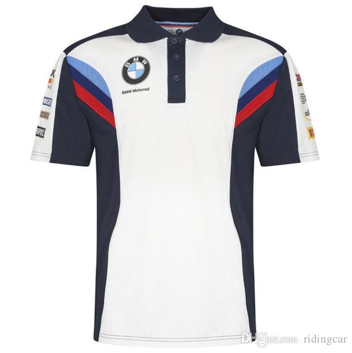 BMW Motosiklet Tişört Yeni POLO Kısa T Gündelik Giyim Yarış tişört Hızlı kuruyan Kısa Kollu Casual Üst