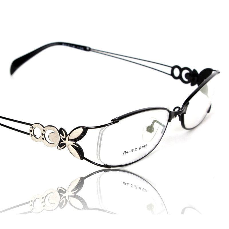 Butterfly Alloy Elegant Women Glasses Frame Female Vintage Optical Glasses Plain Eye Box Eyeglasses Frames Myopia Eyewear C19042001
