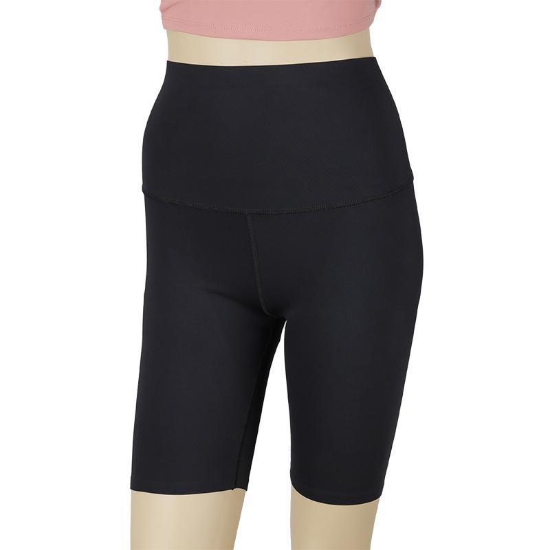Basınç Pantolon Binicilik Lu-6 Yaz Yoga Yüksek Bel Göbek Barbie Pantolon Kadın Beş Noktaya Kalça Spor Sıvı Pantolon