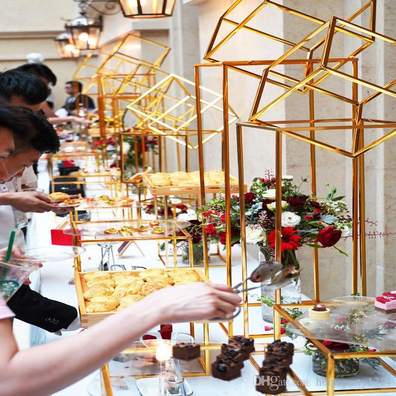 Dessert table display rack set cake stand buffet banquet tea break table for wedding props flower frame t-stage dessert holder decoration