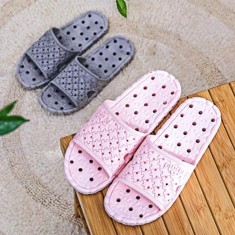 Verão Antiderrapante Flip Flops Chinelo Interior Andar Mulheres Chinelo Confortável macio Soled Banho Chinelos de PVC