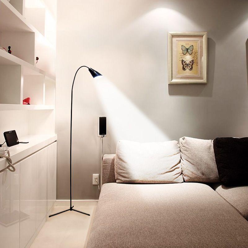 LED Floor Lamp Flexible Gooseneck Standing Dimmer USB Light with Stable Base Standing Reading Lamp for Office Bedroom Modern