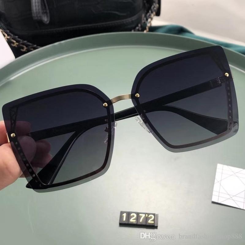 Женские эфирные очки дамы путешествия каникулы большие солнцезащитные очки Trend дизайнерская рамка роскошный новый стиль PJ1272SP солнцезащитные очки 2020 мода FRFU