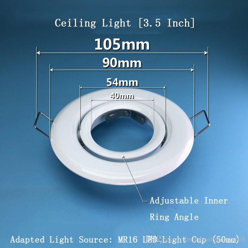 Opening Recessed Ceiling Light 3.5 Inch Ceiling Spotlights MR16 LED Cold Light Lamp Cup Light Source