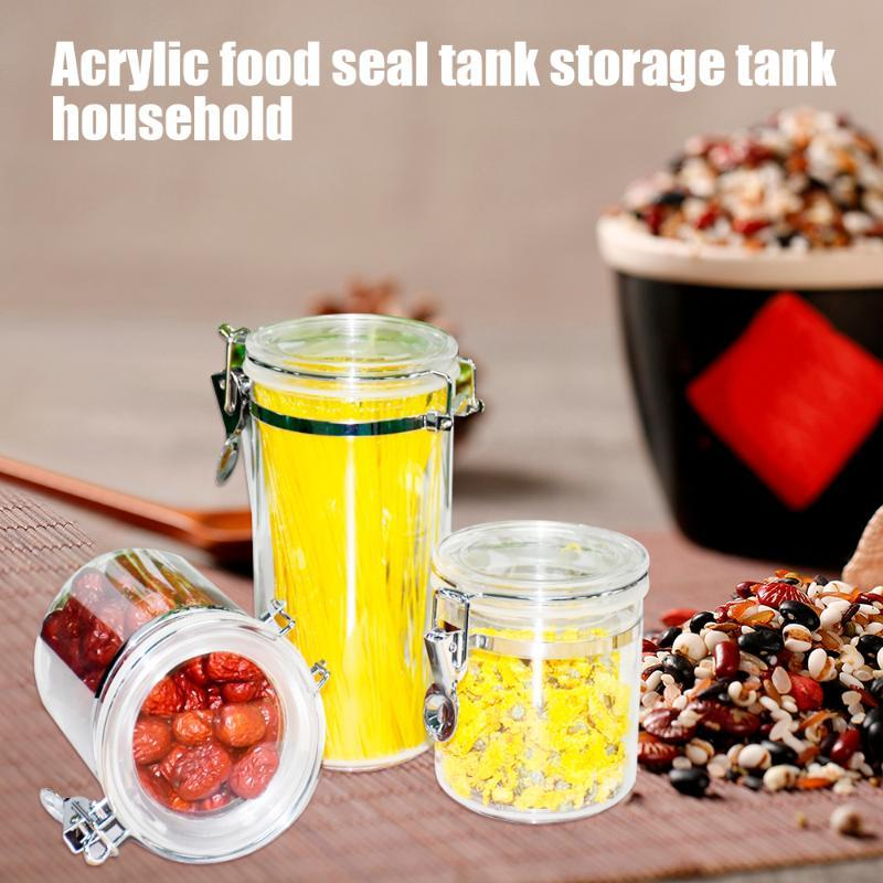 2020 Acrylic Storage Box Plastic Clear Container Set With Pour Lids Kitchen Storage Bottles Jars Airtight Dried Grains Tank From Wudee 15 71 Dhgate Com
