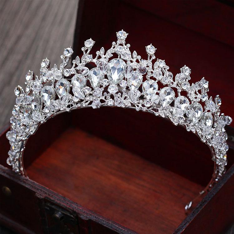 lusso di cristallo scintillante principessa sposa Diademi Novia Matrimonio accessori per capelli C18122501