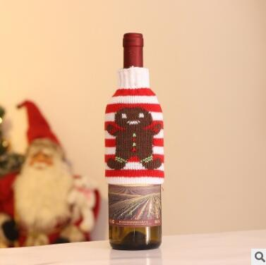 Christmas Beer Bottle Sweater Cover Bag Cartoon Elk Tree Snowflake Wine Bottle Sets Wine Cover Xmas New Year Decor DHL 7797