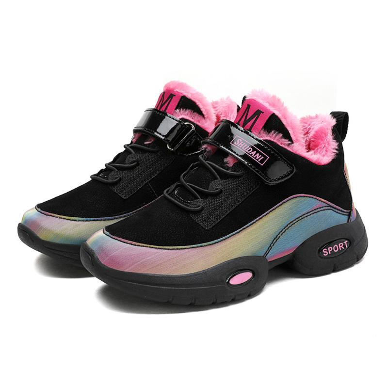 New Winter Children Sneakers Boys Girls Casual Leather Running Shoes Chid Wear-Resistance Sneakers Warm Plush Kids Sports Shoes