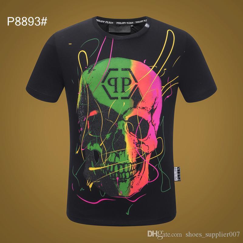 Phillip Plain maglietta 20FW donne del progettista del Mens magliette Luxury Estate Homme fuori dal nero bianco Cranio superme Tee Tops cappuccio tute 06