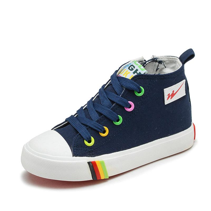Çocuklar Kız Çocuklar Için Ayakkabı Tuval Ayakkabı Erkek Şeker Renk Nefes 2018 İlkbahar Sonbahar Kızlar Sneakers Moda Toddler Ayakkabı Y190525