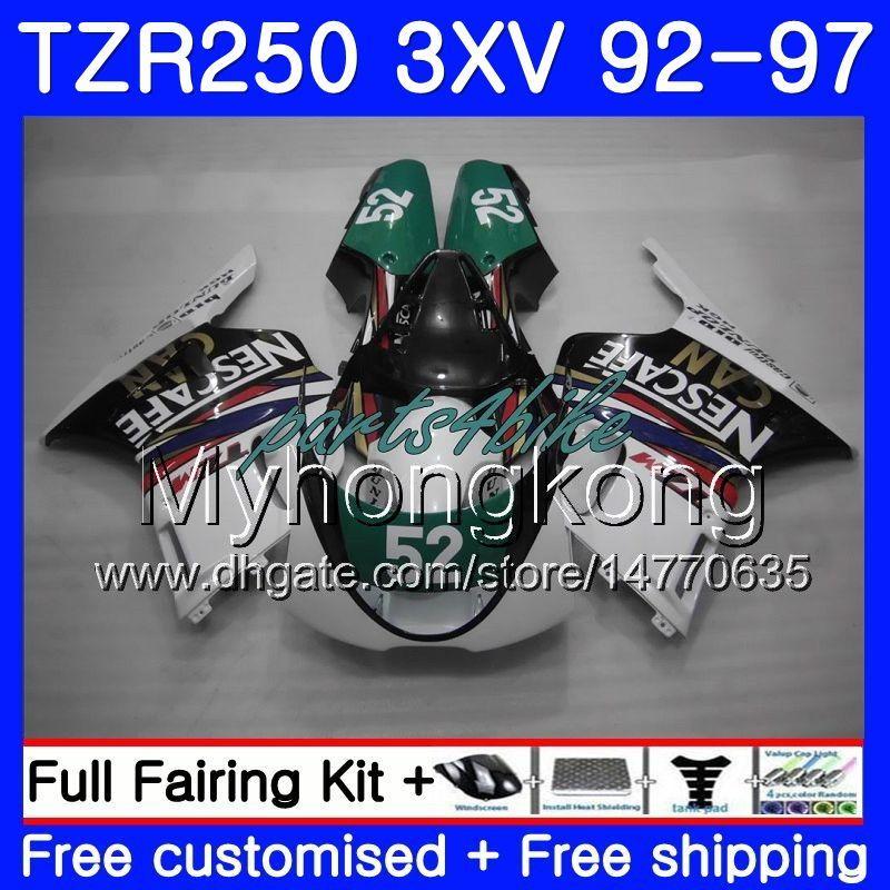 키트 YAMAHA TZR 250 3XV YPVS TZR-250 92 93 94 95 96 97 245HM.20TZR250RR 그린 화이트 핫 RS TZR250 1992 1993 1994 1995 1996 1997 페어링