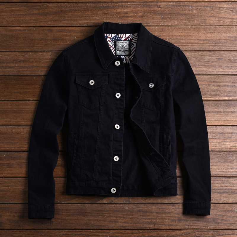 DEE MOONLY Primavera e Outono homens jaqueta moda casual casaco de algodão cáqui preto e verde do exército outerwear casaco jaquetas jeans de homens