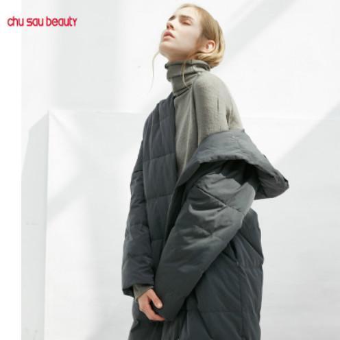 Mulheres Designer Brasão de Down Casual Windproof longo Jackets Womens Inverno Moda cor sólida vestir 2 cores para Atacado