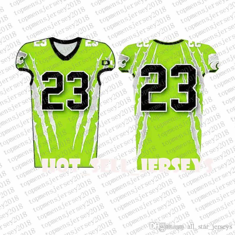 Top Custom Football Jerseys Mens Stickerei Logos Jersey Freies Verschiffen billig Großhandel jeder Name eine beliebige Anzahl Größe S-XXXL0996