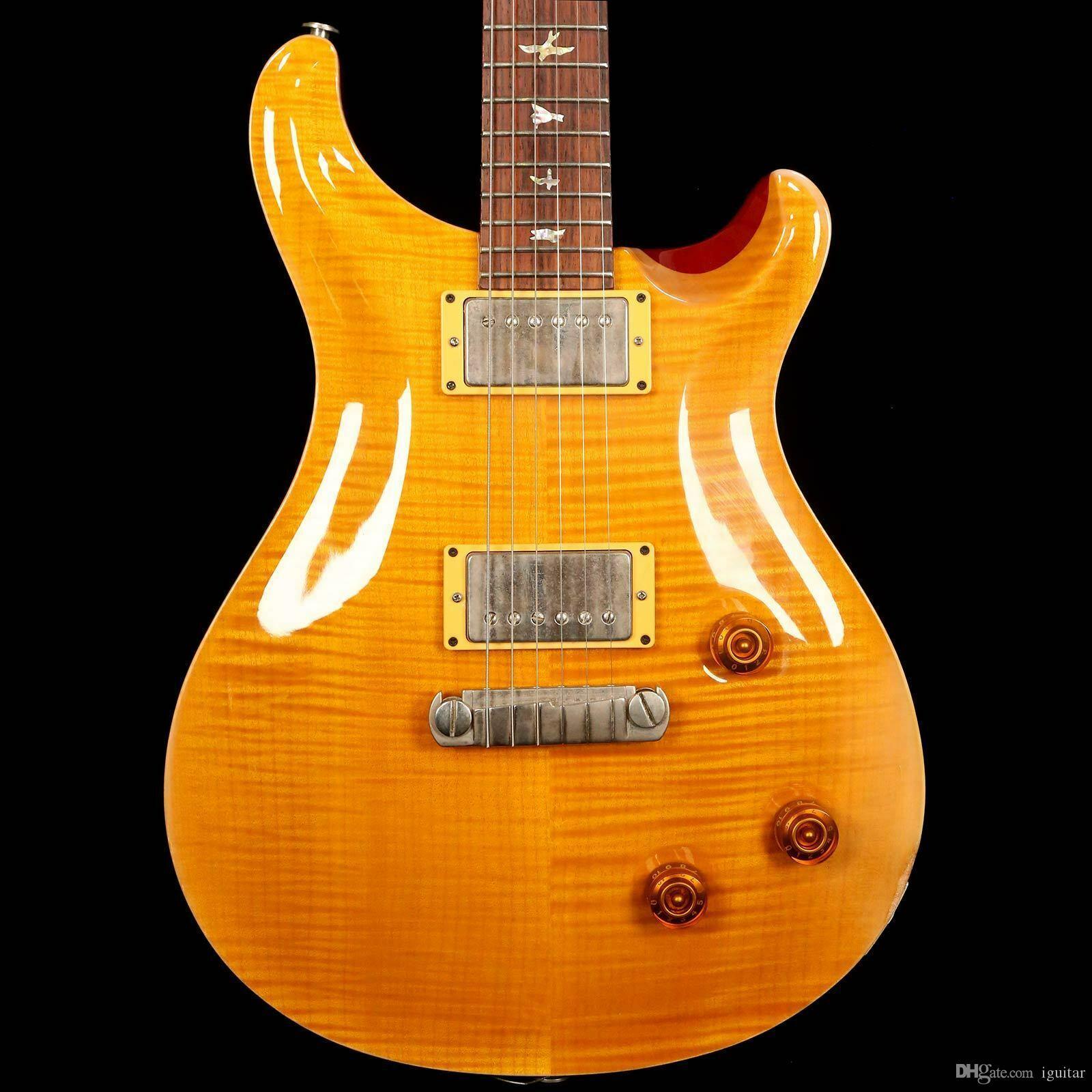Rare Custom 22 10 Top Electric Guitar Yellow Burst Reed Smith 22 frets Guitar
