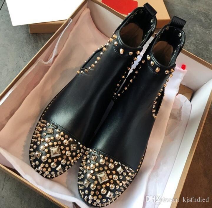 mulheres designer de moda de luxo botas vermelhas bottoms mulheres Bota Meninas Designer Luxo sapatos com cravejado Spikes partido botas de inverno grátis Sapatos