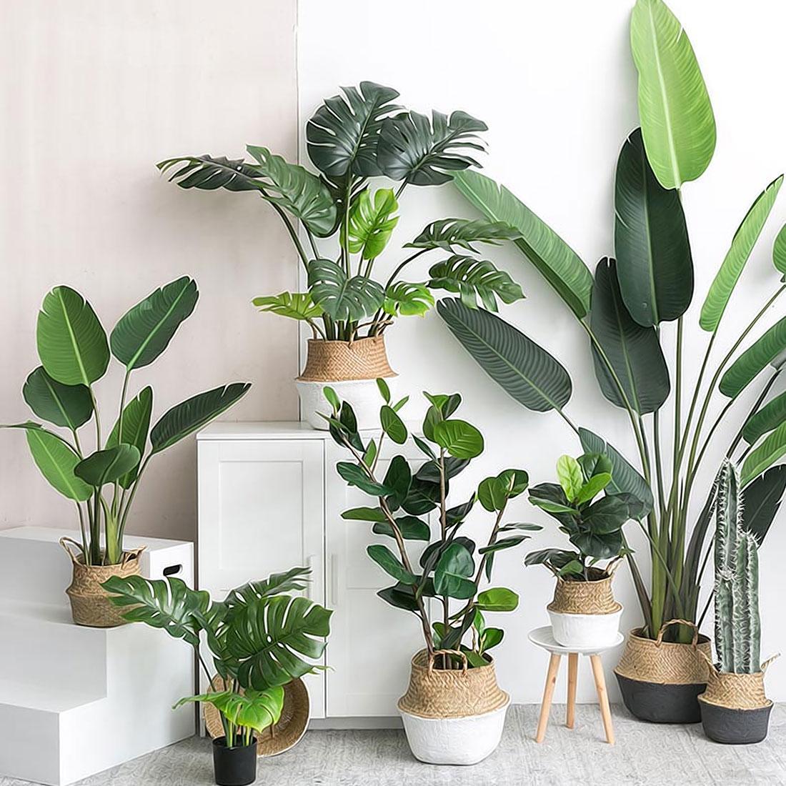 2019 Artificial Plants Green Turtle Leaves Garden Home decor 1 Bouquet Mexican Autumn Decoration artificial grass plant