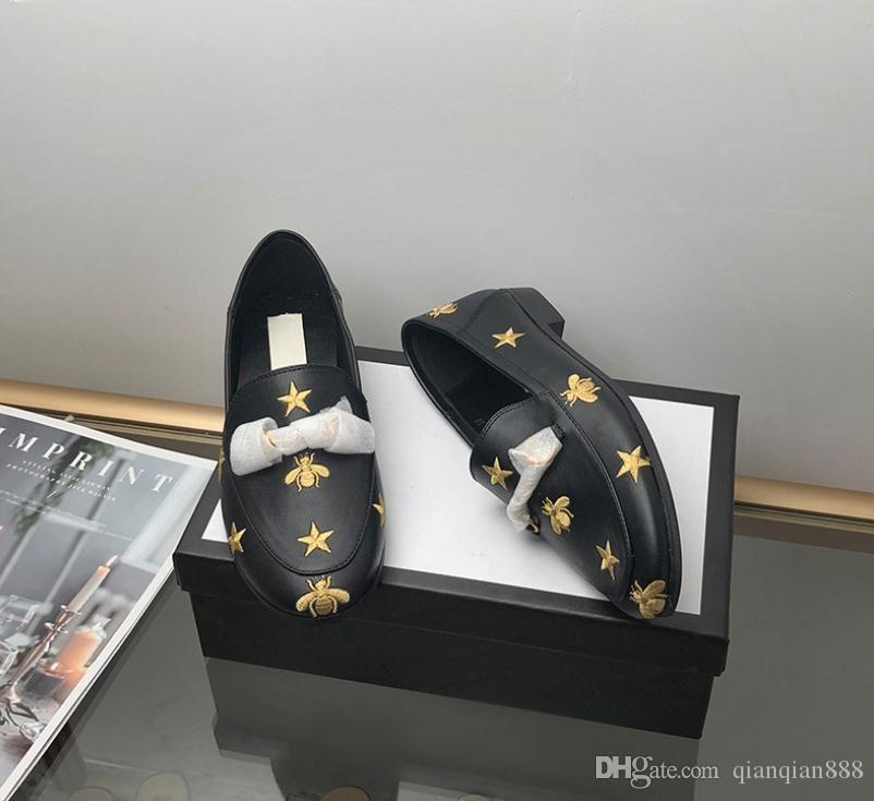 G de la manera de las mujeres zapatos casuales de cuero genuino Blanco Negro Beige diseñador de las mujeres zapatillas de deporte de los holgazanes de lujo zapatos para caminar G Mujer Zapatos 35-4